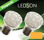 LED-LAMP-ORANJE-24-DIODE--P21W--BA15s