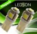 LED xenon 5xSMD W5W _